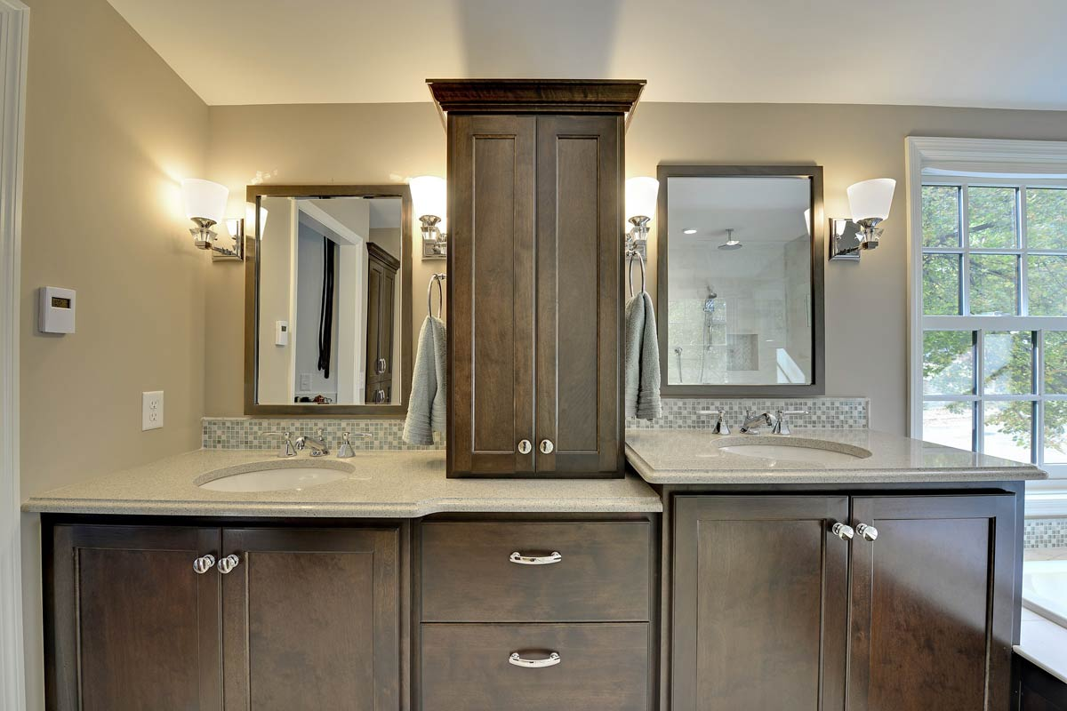cabinets custom shower connecticut glass gallery door bathroom dual bath vanities sink ct darien with and decorating ideas