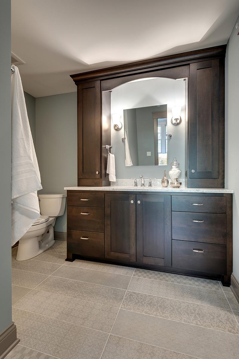 Custom Bathroom Mirrors Framed: Custom Bathroom Cabinets MN