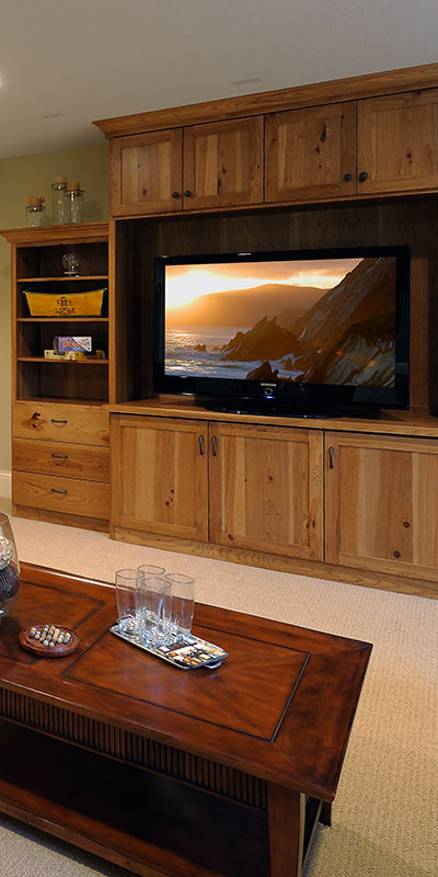custom cabinets entertainment center